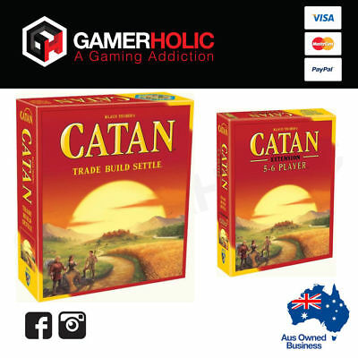 Settlers of Catan 5th Edition Core Set + 5-6 Player Expansion Board Game