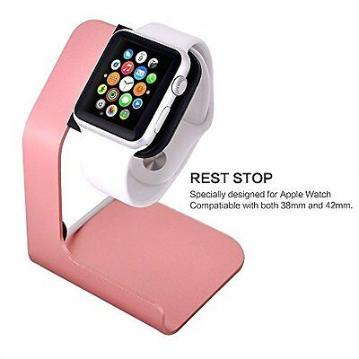 Apple Watch Stand Aluminum Apple Watch Charging Stand For 38mm & 42mm Rose Gold