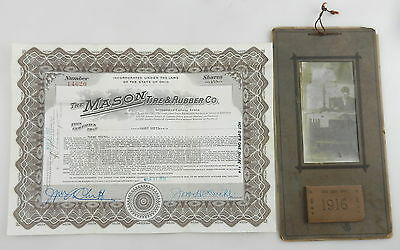 1922 MASON Tire & Rubber Company STOCK CERTIFICATE ~ OHIO ~ #14620