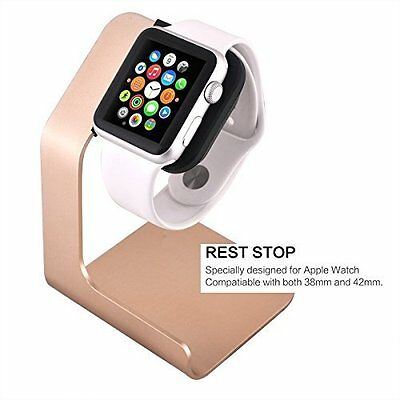 Apple Watch Stand Aluminum Apple Watch Charging Stand For 38mm & 42mm Shiny Gold