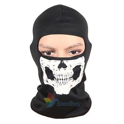 Motorcycle Bike Full Face Skull Scarf Mask Ultra Thin Warm Head Neck Balaclava