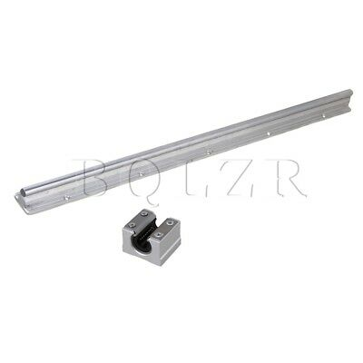 Silver 500mm SBR10 CNC Linear Motion Bearing Rail & Open Linear Slide