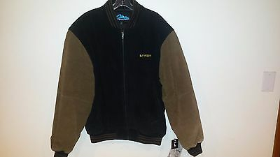 Men's Leather Jacket, Black/brown Goldcup Championship Swag,  New With Tags