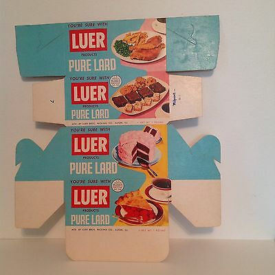 vintage Luer pure lard box unused