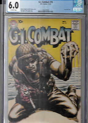 G.I. COMBAT #78 (DC, Nov 1959) CGC 6.0 OW * Hard to Find * 4th Grey tone cover *