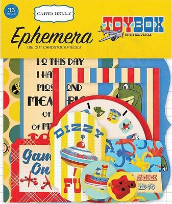 "Carta Bella ""toybox""  Ephemera Die Cuts Toys Children Retro Scrapjack's Place"