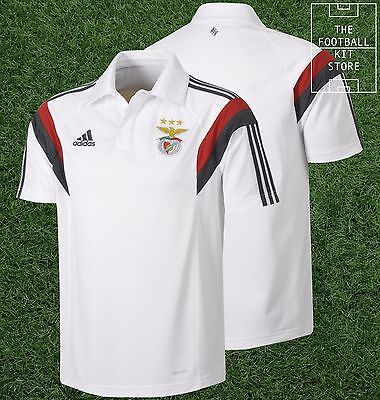 Benfica Polo Shirt - Official Adidas Football Training Wear - All Sizes