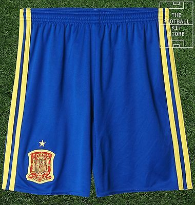 Spain Home Shorts - Official Adidas Boys Football Shorts - All Sizes