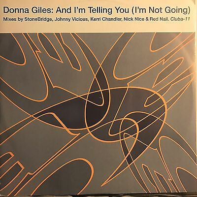 DONNA GILES • And I'm Telling You • Vinile 12 Mix • 1994 CLUBVISION