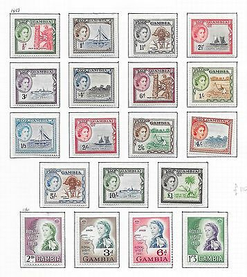 Gambia stamps 1953 SG 171-189  MLH  VF   HIGH VALUE!
