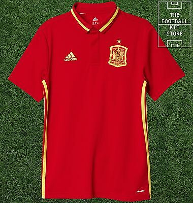 Spain Polo Shirt -   Official Adidas Boys Football Top - All Sizes