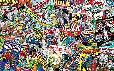 Marvel Super Hero Comic Theme Edible Cake ICING Sheet A4
