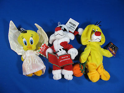One Tweety And Two Sylvester Holiday Bean Bags With Tags