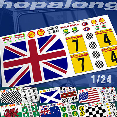 1/24 Scale 'Classic Mini' Waterslide Decals. Various Designs.