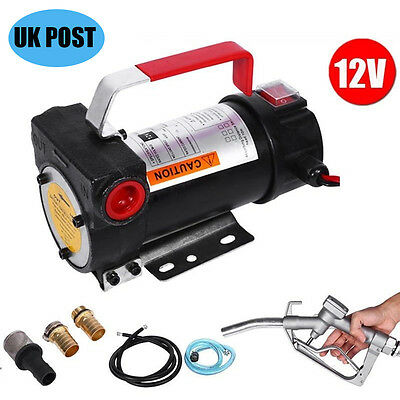 12V Diesel Fluid Extractor Electric Transfer Pump Car Fuel Auto Speed -UK Seller