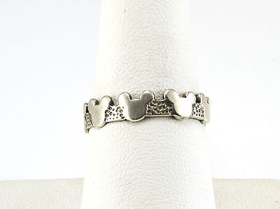 Vintage Disney Sterling Silver Mickey Mouse Ring Size 7 1/2