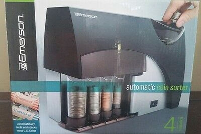 Emerson Automatic Coin Sorter (NIB) 4 Barrel Machine Use Money Change Sorting