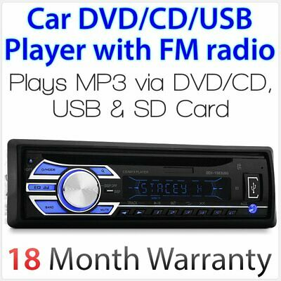 Audio Single 1 DIN Head Unit CD USB SD Player 52Wx4 Car MP3 Radio ID3 Tag Ozproz
