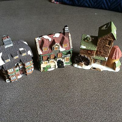 Department 56 Dickens Village Christmas Ornament Lot Of 3