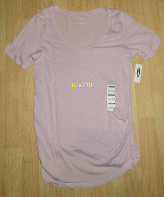 Old Navy Maternity U-Neck T-Shirt SMALL S Womens Lavender Relaxed NEW NWT