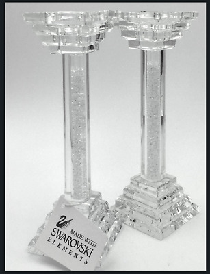 Exclusive set of  Tea light holders, candle sticks with Swarovski Crystals