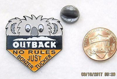 Outback Steakhouse No Rules Just Bonzer Tucker Lapel Pin Pinback Travel Food