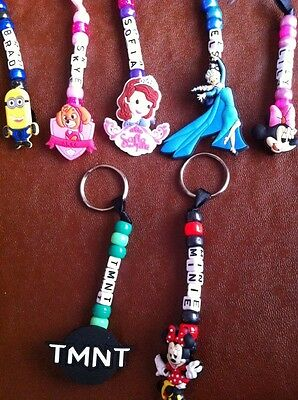 Personalised Handmade, Bag Tag, Keyring, School BagTag Any Name Any