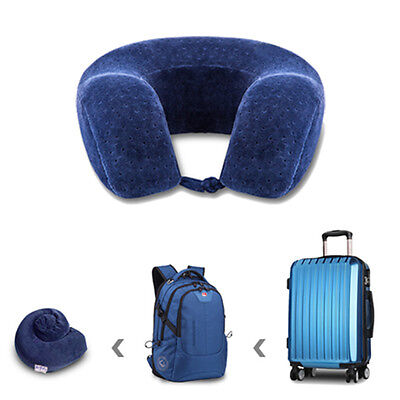 Memory Foam Comfort Neck Support Soft Velour Travel Cushion Pillow With Rucksack