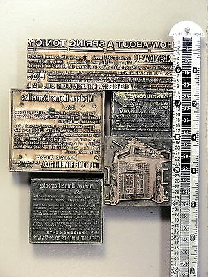 QUACK MEDICINE - Vintage Letterpress Type Cuts Printer Blocks – Lot#EXC