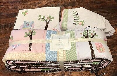 Pottery Barn Kids Hayley Baby Bedding Bumper Pillow Cover Crib Skirt