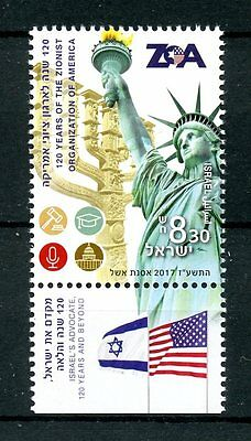 Israel 2017 MNH ZOA Zionist Org America 120 Yrs 1v Set Statue of Liberty Stamps