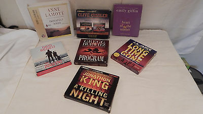 8 complete audio books on cd lot