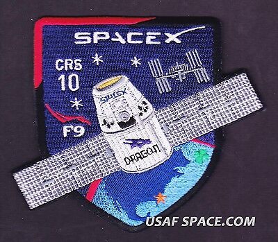 CRS-10 - SPACEX ORIGINAL FALCON-9 DRAGON F-9 ISS NASA RESUPPLY Mission PATCH