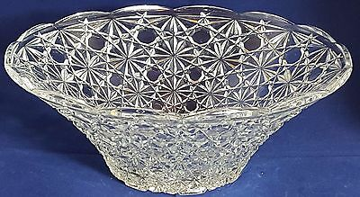 Beautiful French Cut Glass Bowl by Veropa. Weight 1.035 Kg