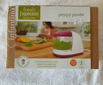 Infantino Peppy Puree Baby Food Blender Chopper New