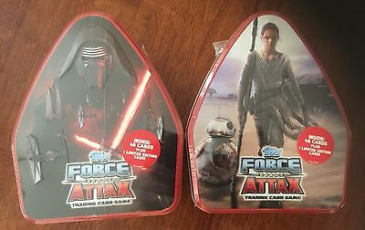 Star Wars - 2 X Force Attax Trading Card Game Metal Tins - Topps.