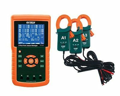 Extech Instruments PQ3450-12 1200A 3-Phase Power Analyzer and Data Logger Kit