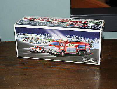 Hess Emergency Red Truck With Rescue Vehicle 2005 New in Box