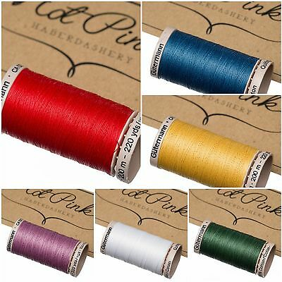 Gutermann Waxed Hand Sewing Patchwork Quilting Thread 100% Cotton.  50 Colours!