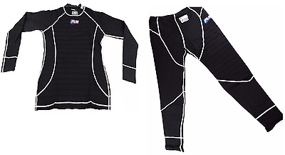 Racing Underwear Rjs Racing Sfi 3.3 Fr Undergarment Black & White Stitch Medium