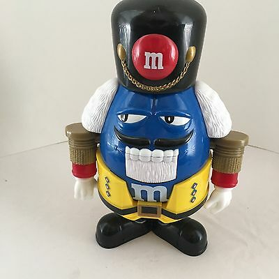 M&m's Blue Christmas Nutcracker Holiday Candy Dispenser
