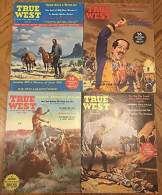 """1959 """"true West"""" Magazine Lot Of 4 Issues - All 1959"""