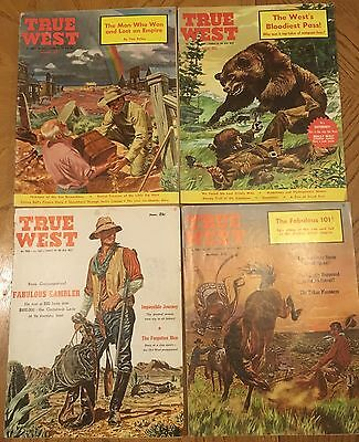 """1960 """"true West"""" Magazine Lot Of 4 Issues - All 1960"""