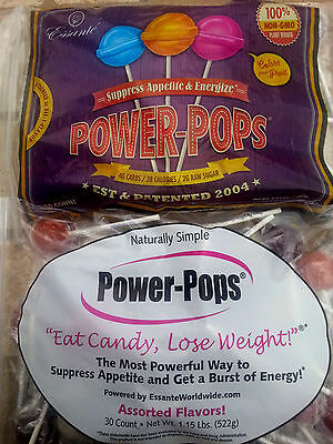 90ct Diet Power POPS Lose Weight Loss Sucker Candy Powerpops Suppress Appetite