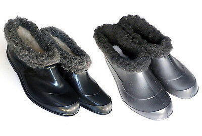 Gardening shoes with Synthetic fur lining Galoshes Boots Glogs Rubber ГАЛОШИ