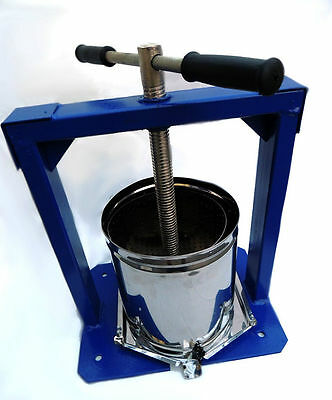 FRUIT PRESS   10 L Stainless Steel  JUICER WINE Making NEW Home Brew