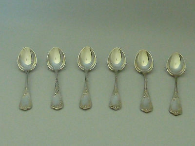 Six Russian 84std solid silver spoons - Grachev Brothers - St Petersburg - 80g