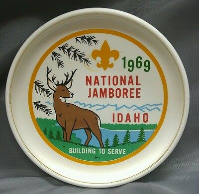 Old vintage 60s Boyscouts of America National Jamboree plate Idaho 1969