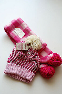Girls Hat and Scarf set Size 4-6x Pink