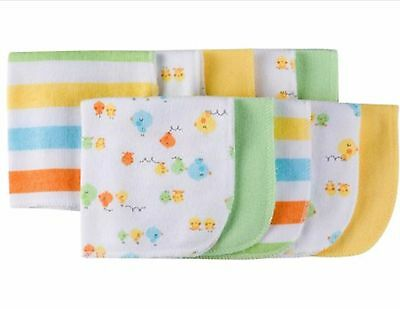 GERBER Baby Girl/Boy/Unisex Infant 10 Pack Terry Washcloths Chick